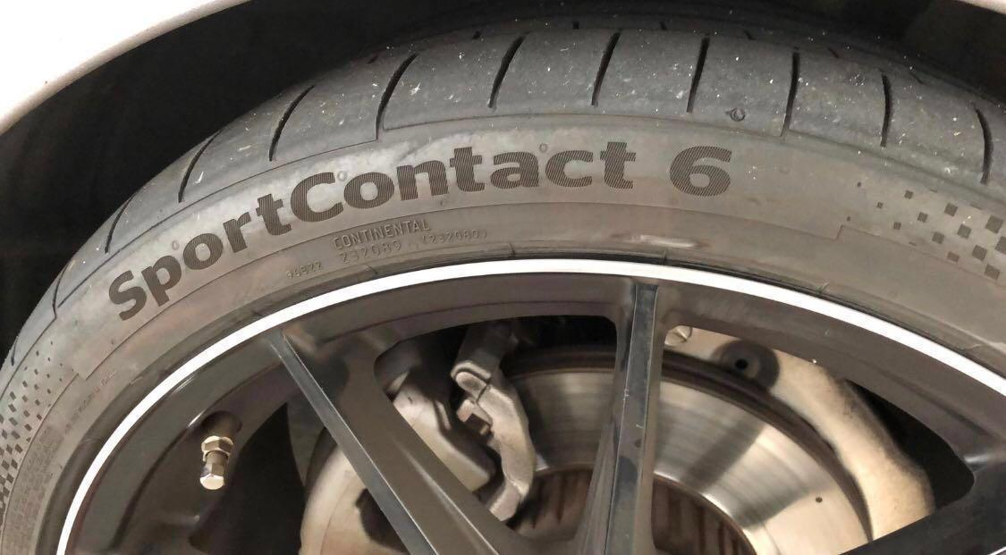 Continental SportContact 6 Tyres + Rims