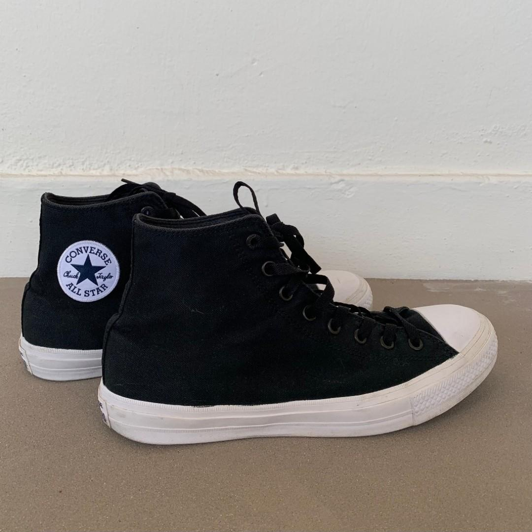 the latest f2f46 84be0 Converse Chuck Taylor 2 Black with Nike Lunarlon Insole ...