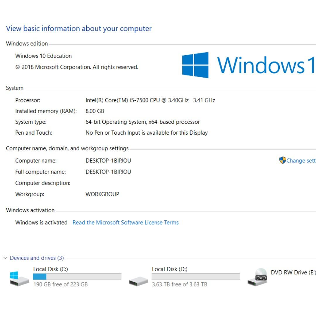 Desktop PC - Gen 7