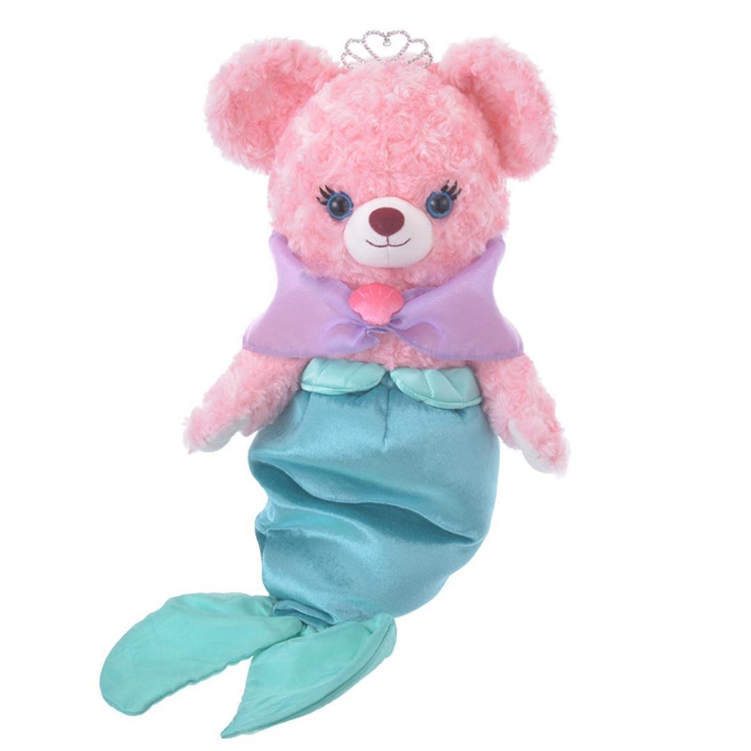 🌟日本Disney store直送🌟小美人魚愛麗兒 Ariel  UniBEARsity 大學熊 玫瑰紋 公仔