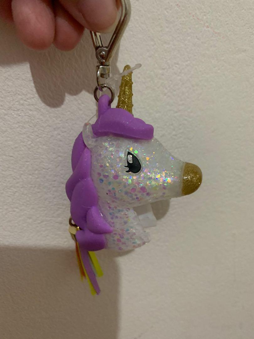 Gantungan Untuk Bath Body Works Hand Sanitizer ( Pocket Bag Anti Bacterial ) Unicorn Charm Kuda Poni