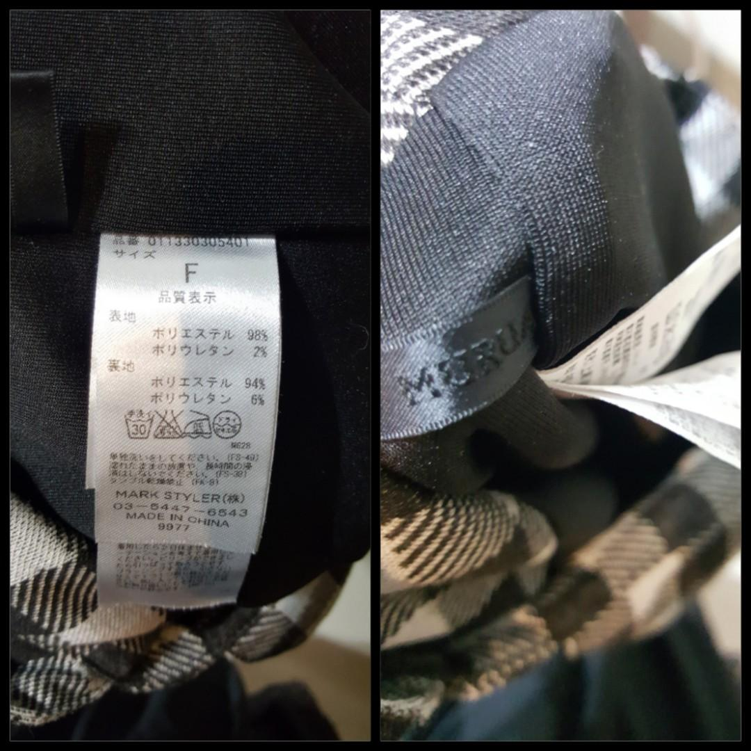 Grey Gingham Short Casual Overalls by MURUA (Japanese brand) (Free size - best suit for size S)