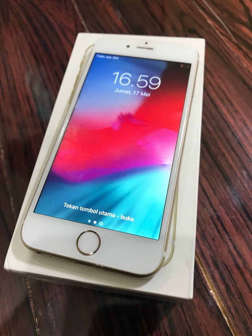 iphone 6s 64gb Gold Fullset Normal Banget Kamera silent