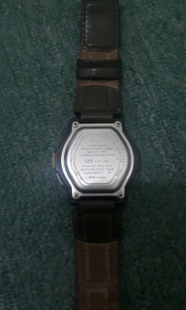 Jam tangan Casio thermo  aqf-100