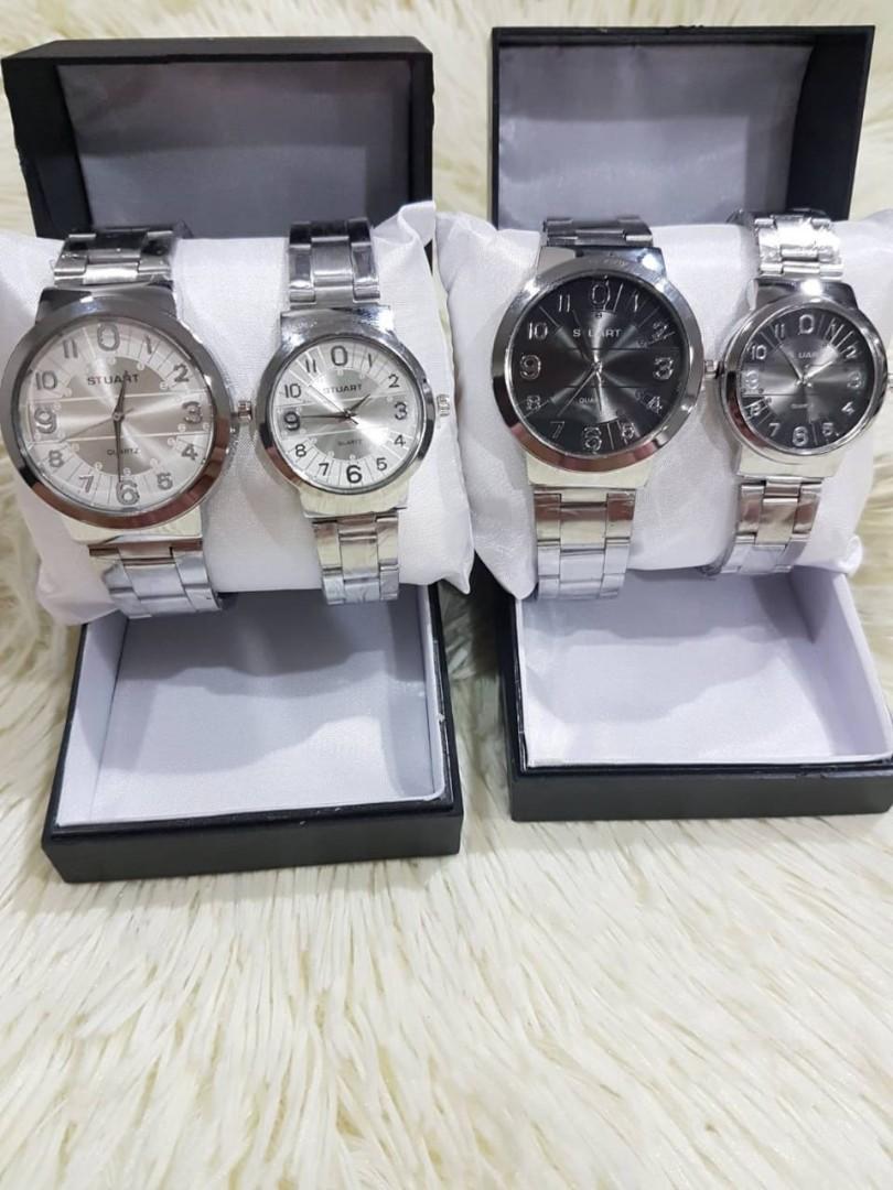 Jam Tangan Couple ZERO CP  Rantai putih pasangan diameter cowo 5cm cewe 4cm