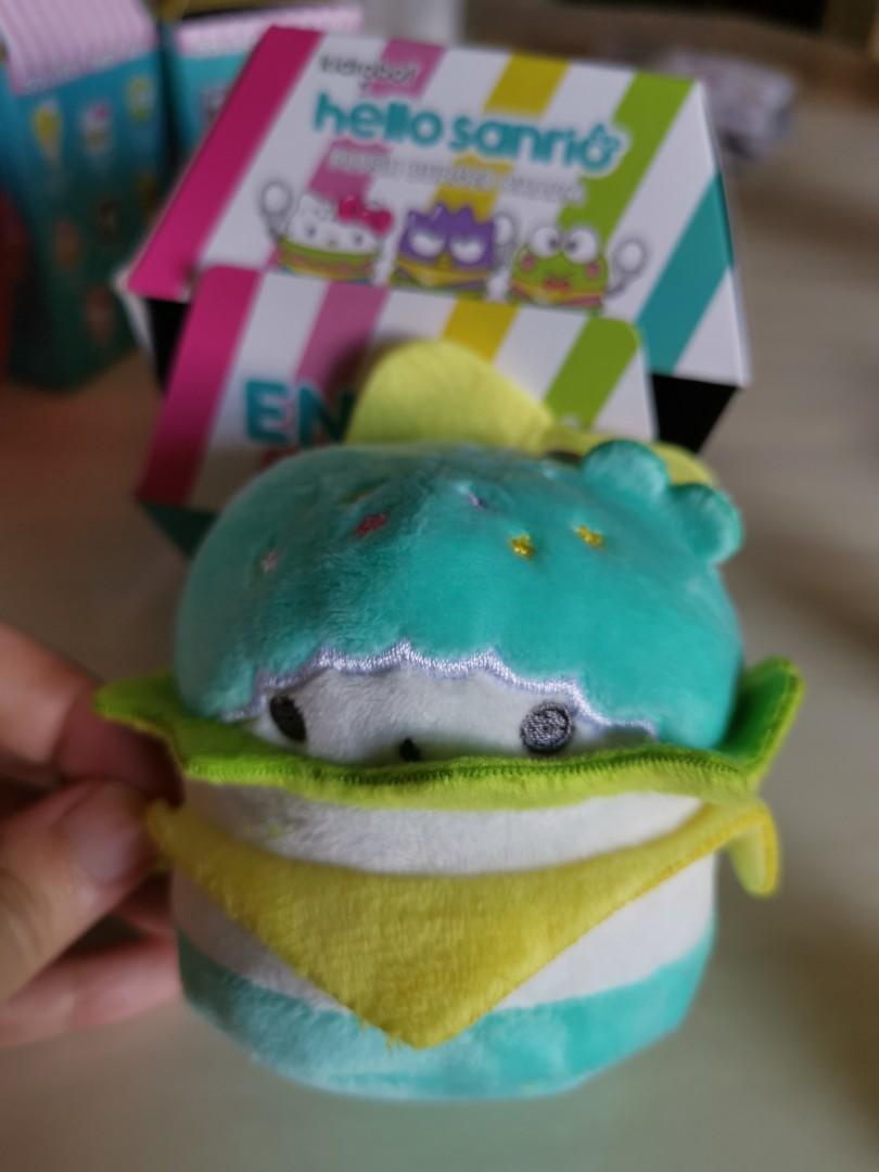 Little Twin Stars Kiki Kidrobot x Hello Sanrio Burger Charms Plush