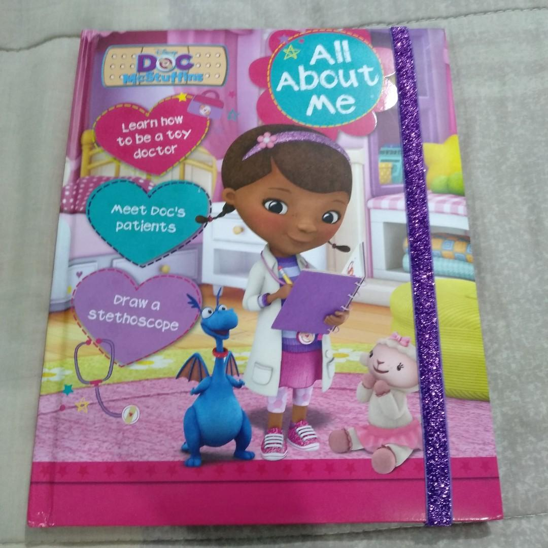 Legit Used Disney Doc McStuffins All About Me Kids Hardbound Activity Book With Glitter Ribbon Seal