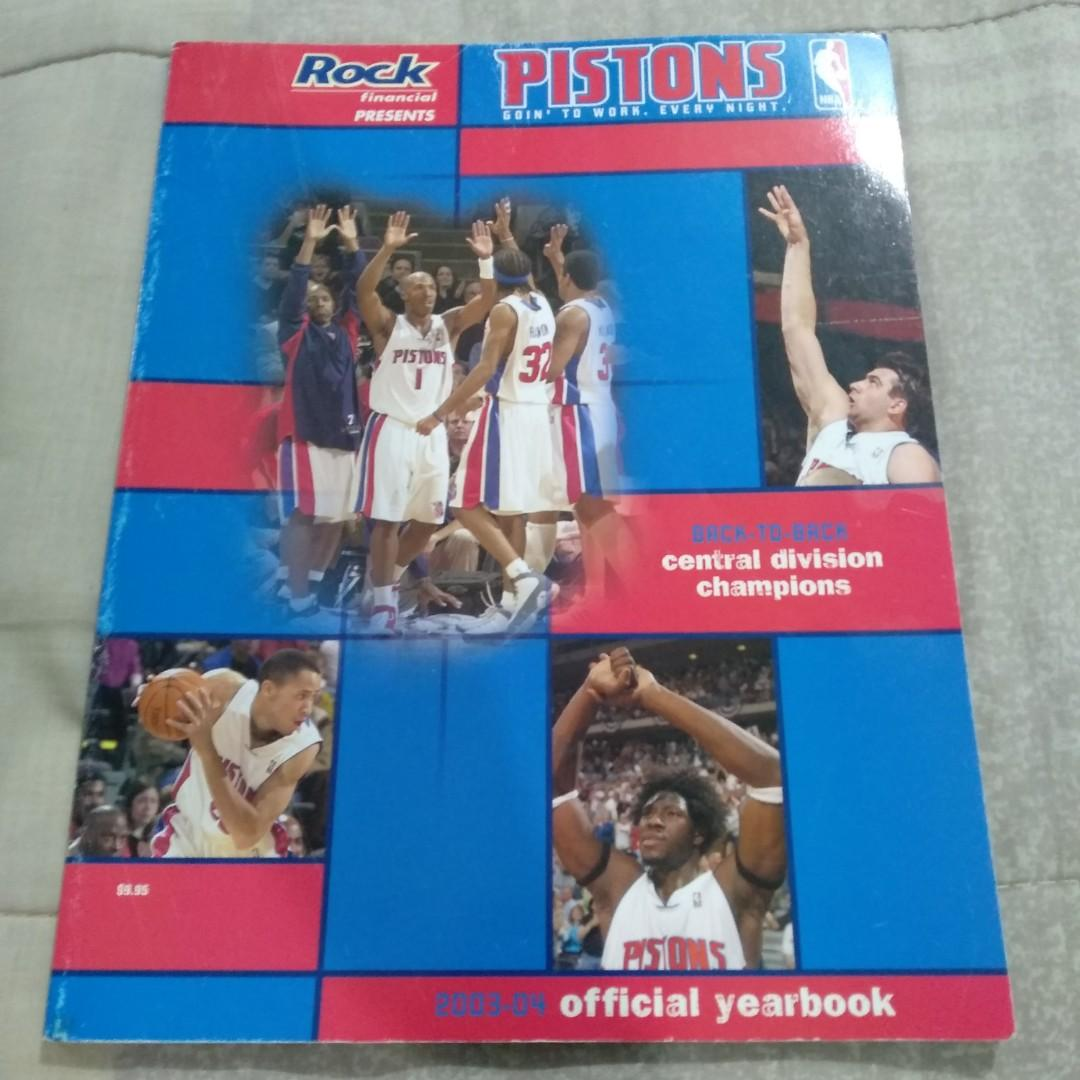 Legit Used NBA Rock Financial Presents Detroit Pistons Goin' To Work Every Night 2003-04 Official Yearbook Paperback Magazine Book