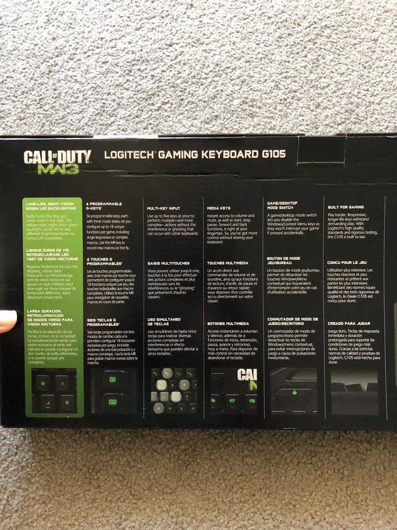 Logitech Gaming Keyboard G105 Call of Duty: MW3 Edition