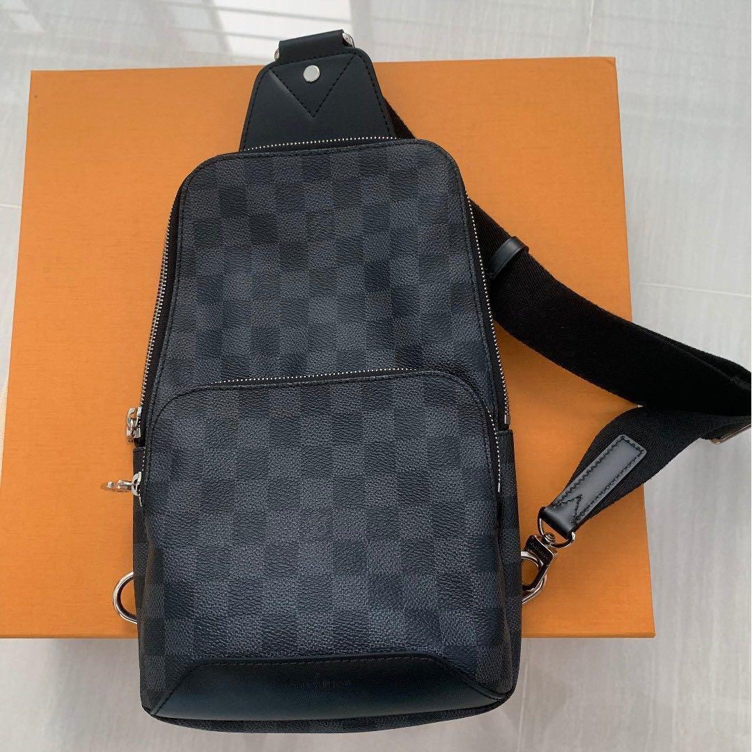 94a56d5c855 Louis Vuitton AVENUE SLING BAG (Damier Graphite Canvas), Men's ...