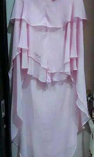 #mauvivo Preloved khimar Sisesa annisa baby pink