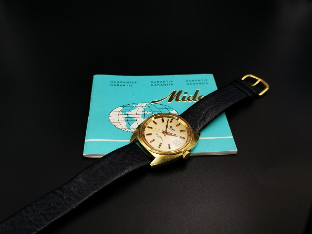 古董Mido 自動上弦包金日曆手錶