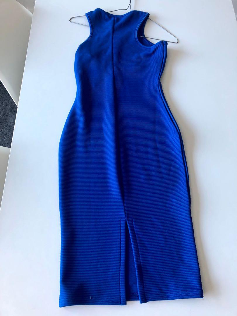 Misguided royal blue midi dress