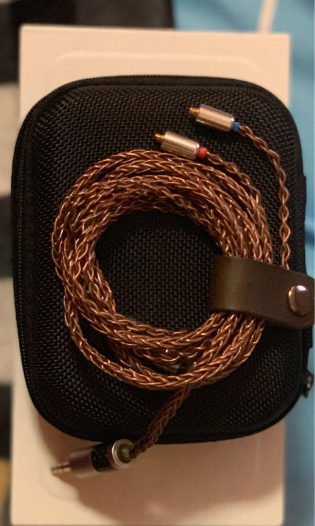 mmcx 8core pure copper headphone cable