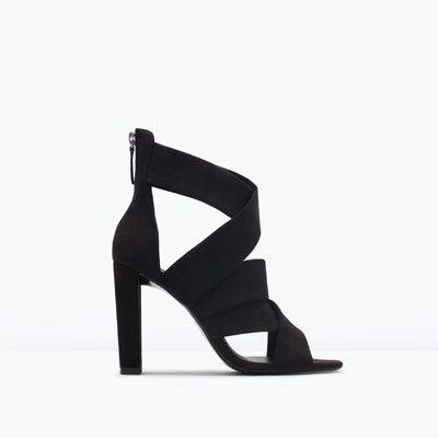 NIB Zara High Heel Strappy Sandals