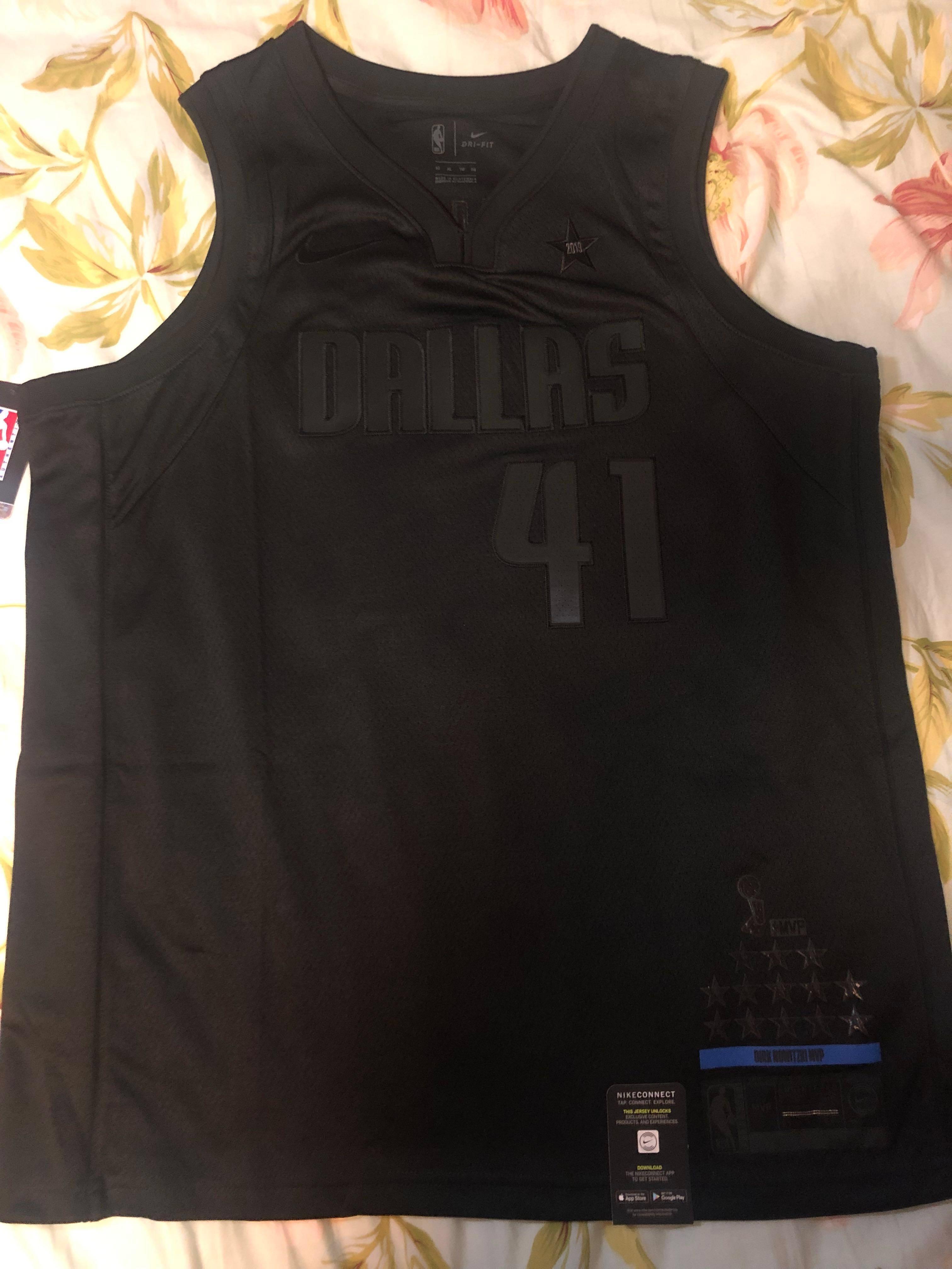 official photos 164c1 1b5d4 Nike Dirk Nowitzki MVP Jersey Dallas Mavericks Black Jersey