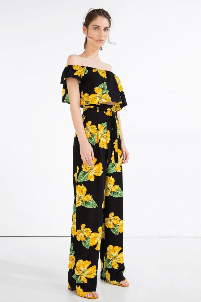 NWT Zara Floral Off-Shoulder Top