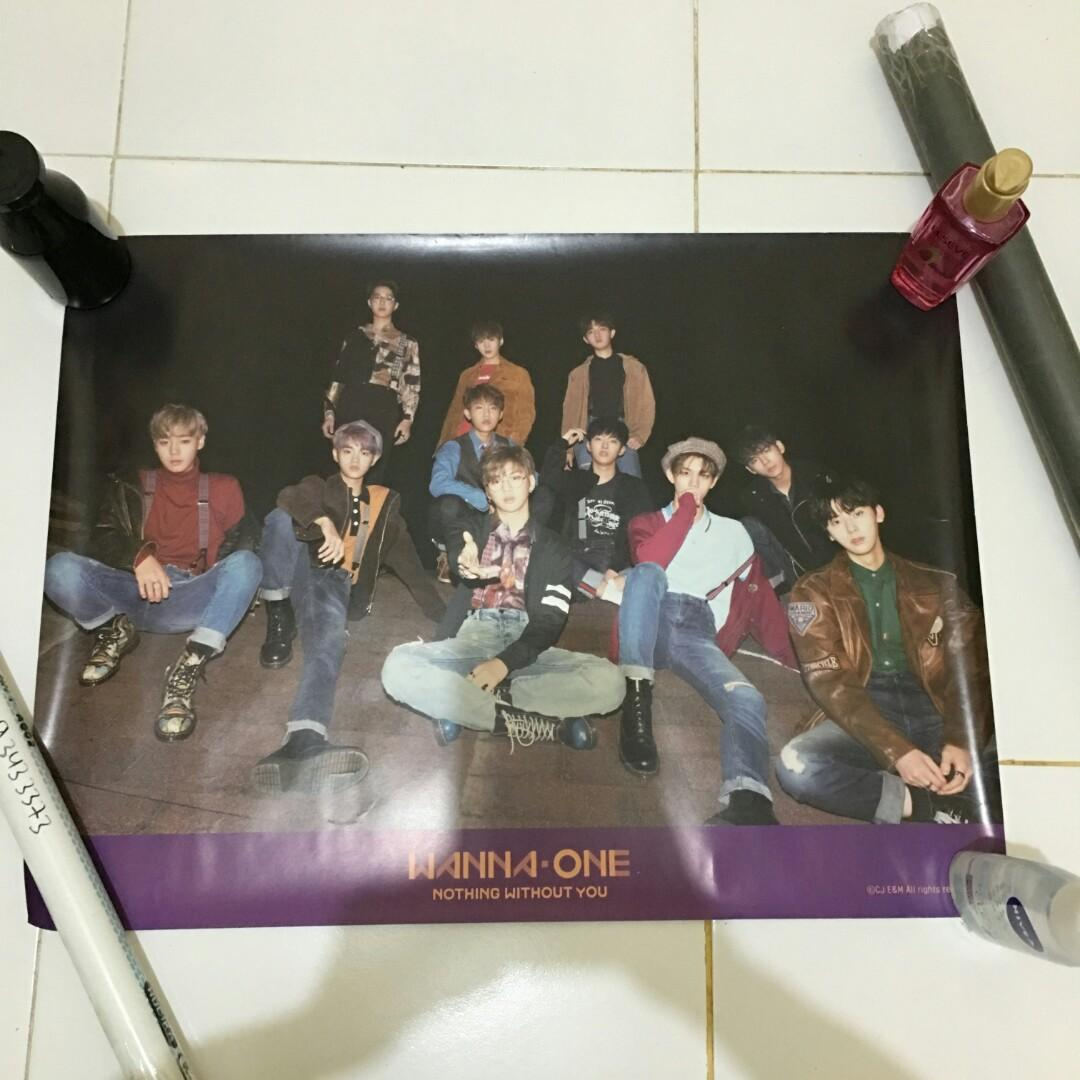 Official Poster Wanna One Nothing Without You Beautiful