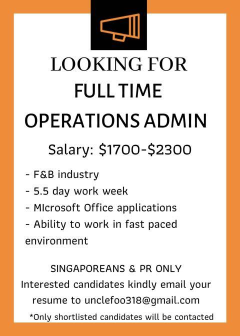 Operations Administrative
