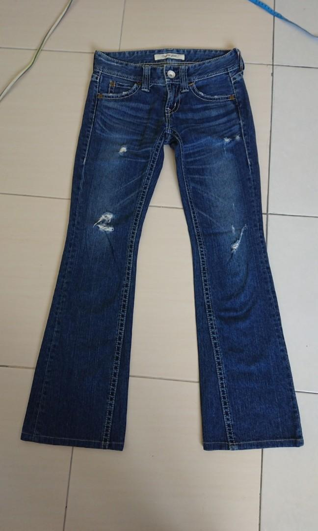 Original Wash bootcut ripped  jeans