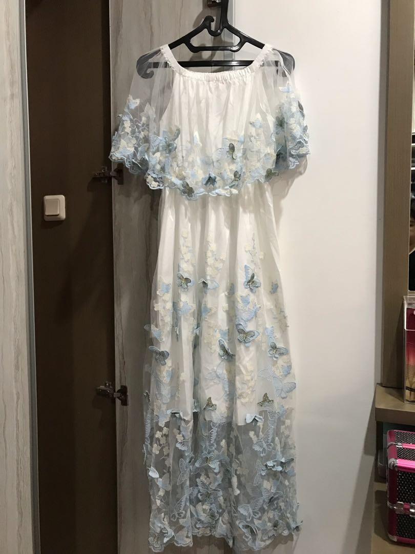 Party dress / prewed dress / night gown / long dress/ gaun pesta #mauvivo