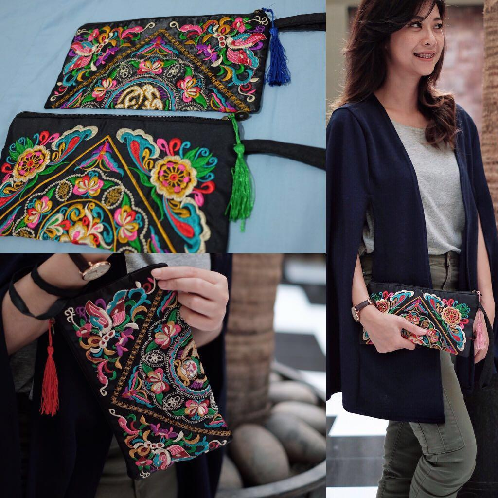 Pouch ethnic embroidery