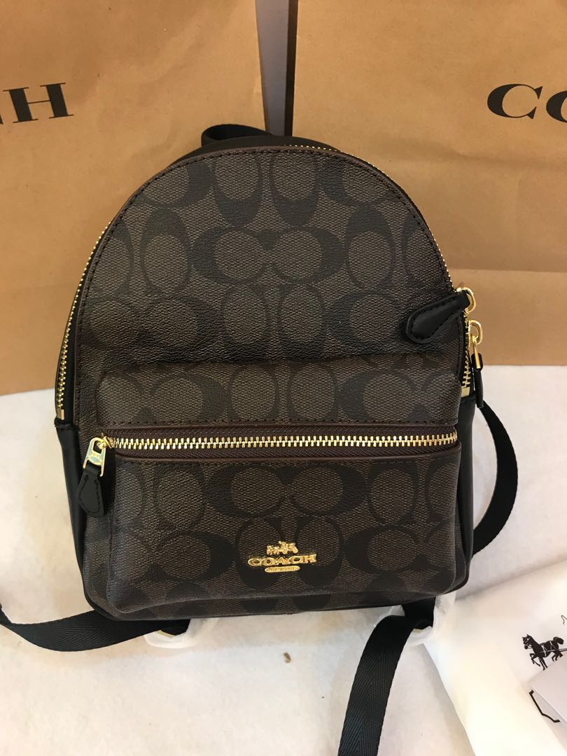602dfa1ff Ready Stock Authentic coach backpack 38312 mini Charlie raya promotion,  Luxury, Bags & Wallets on Carousell