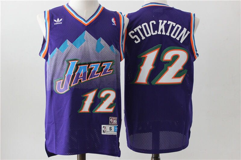 check out 8a670 0e767 Retro NBA Jersey Utah Jazz 12