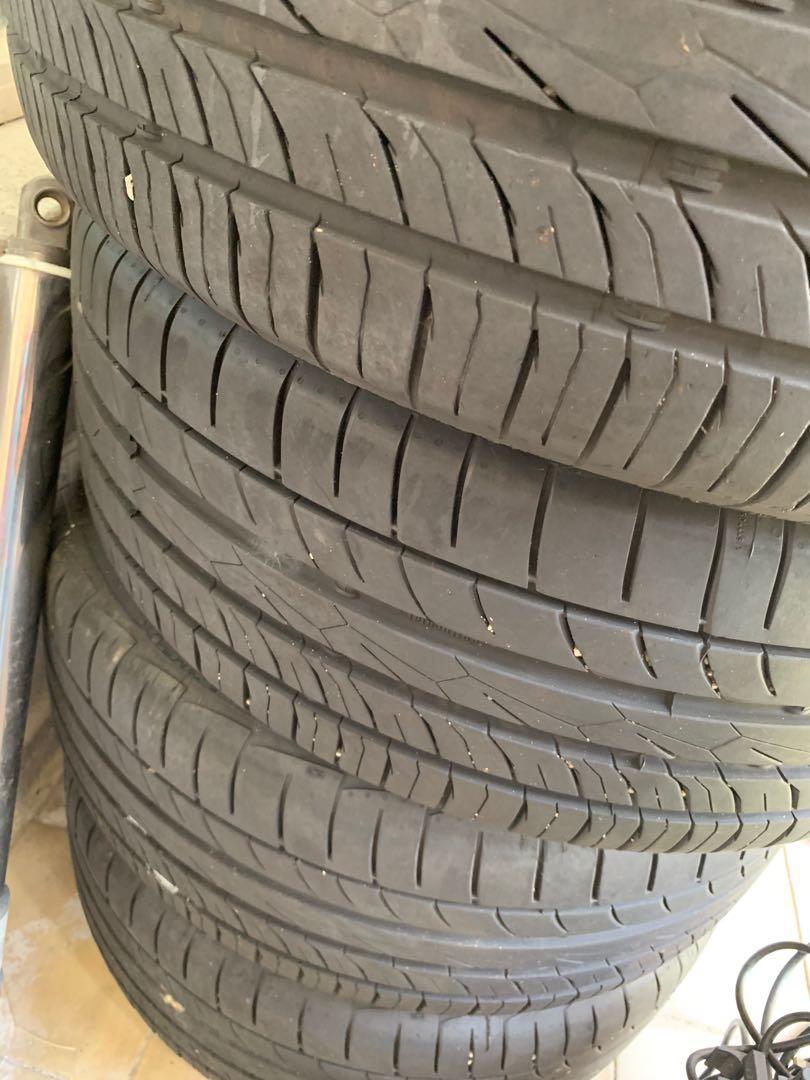 Rim and tyre 17in ori civic, 90%