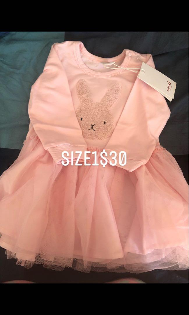 SEED CLOTHING baby girl and boy size 0-4 some are brand new and used in good conditions