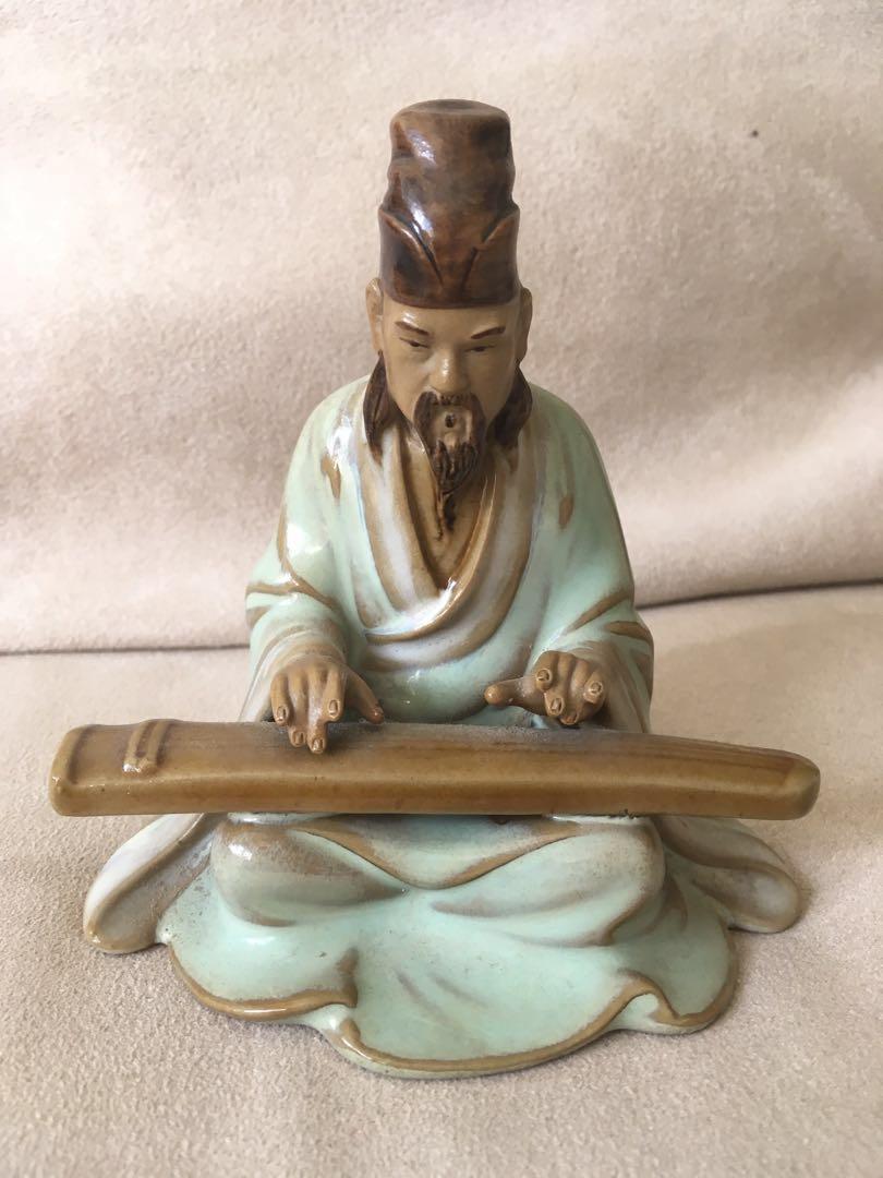 12 assorted Mud Men Figurines Bonsai Chinese small