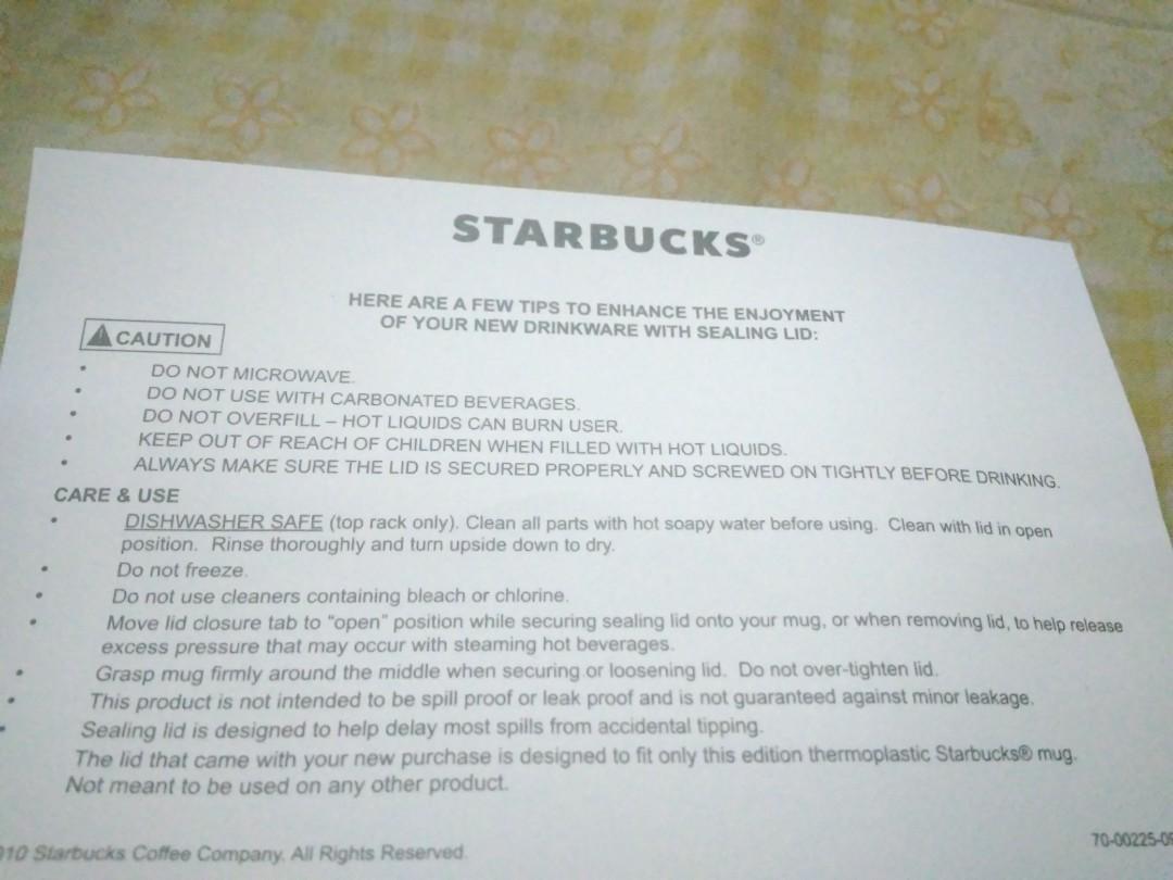 Starbuck tumbler ORI