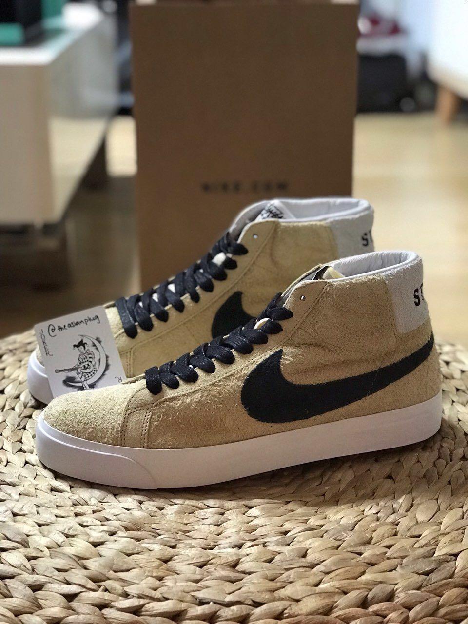big sale ab80f efa1c Stussy x Nike SB Zoom Blazer Mid, Men's Fashion, Footwear ...