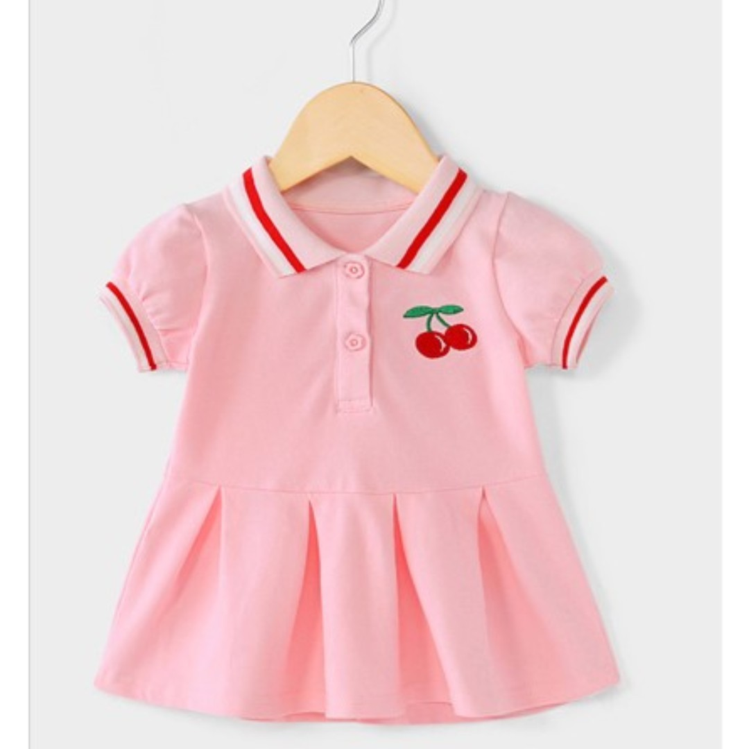 67e59d493 Sweet pink cherry toddler girl polo dress, 95% cotton, for 2-3 yo, height  90-100cm, Babies & Kids, Girls' Apparel, 1 to 3 Years on Carousell