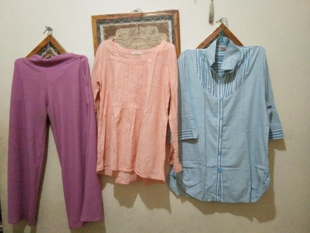 take all kulot & blouse