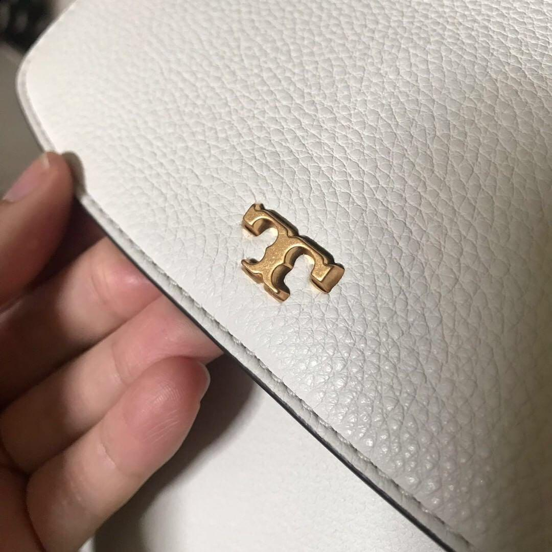 Tory Burch Half Moon Satchel (Ivory)
