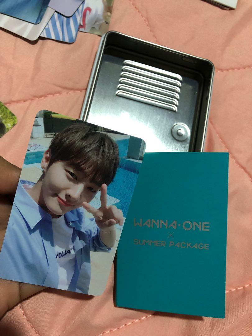 WANNA ONE OFFICIAL SUMMER PACKAGE PHOTOCARD