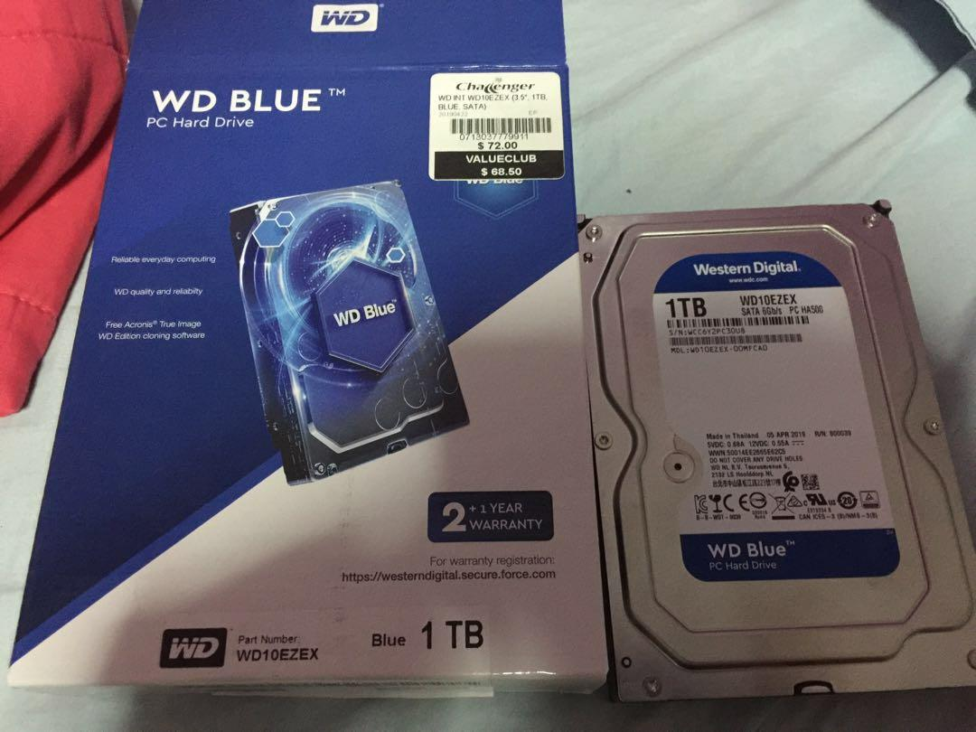 WD Blue Hard Drive 3 Year warranty and cheaper