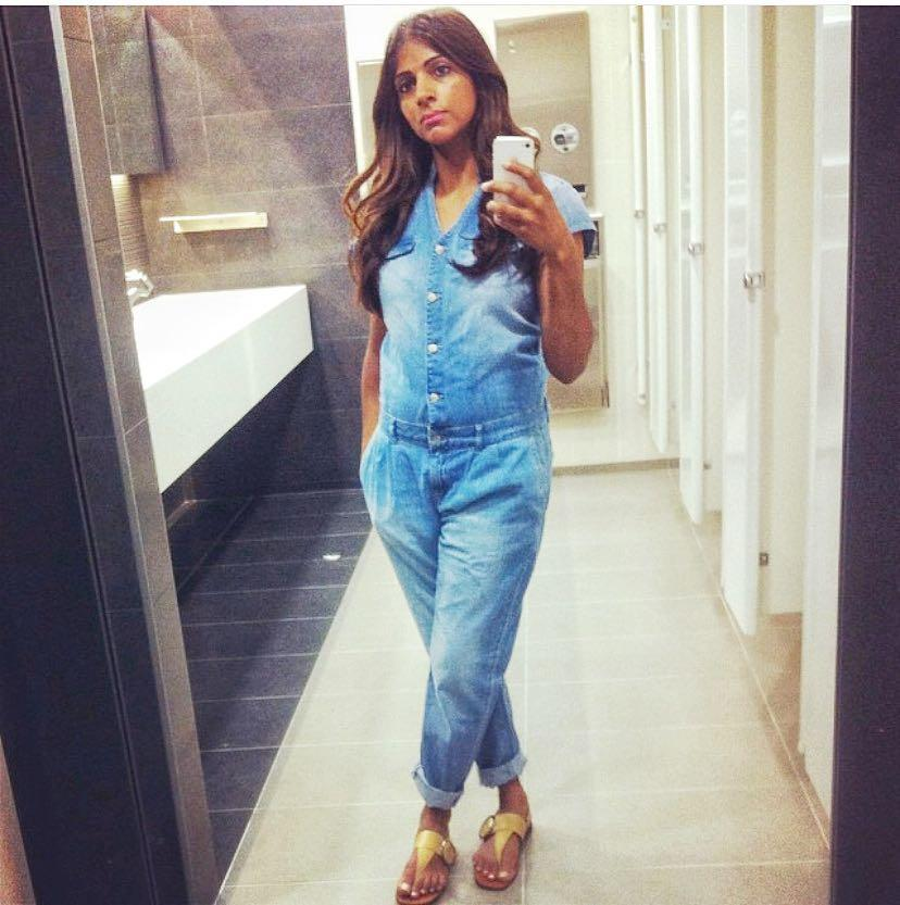 Zara Denim Jumpsuit