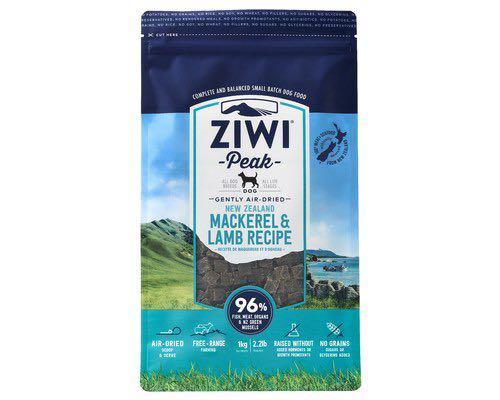 Ziwipeak air dried dog food mackerel and lamp 1 kg