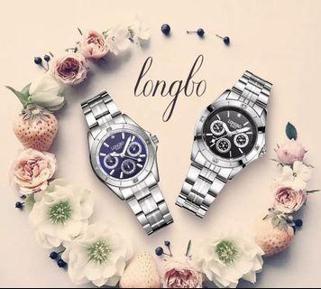 Brandnew Long bo women stainless steel waterproof watch using Japan quartz movement
