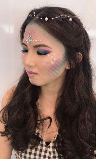 Creative makeup (mermaid looks)