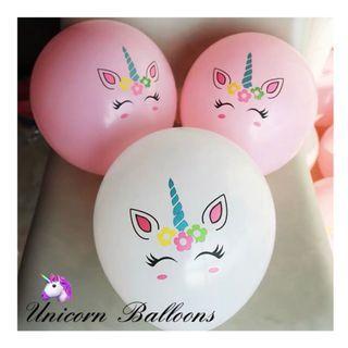 🚚 🦄10 Pcs➕Sticks Unicorn Balloons 🎈🎈