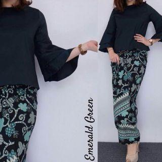 VALENTINO CROPPED TOP & BATIK PARIO SET #GAYARAYA