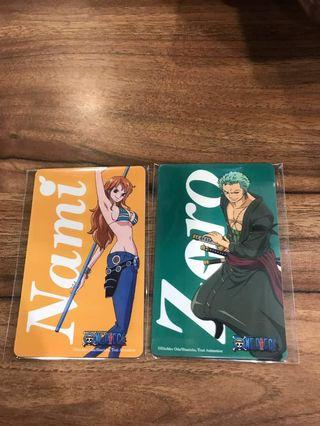 Zoro/Nami Ezlink Card One-pieces (limited stock)