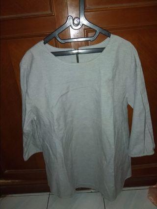 #bapau blouse atasan abu