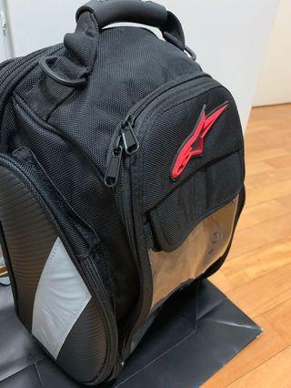 A Star helmet/ rear bike bag