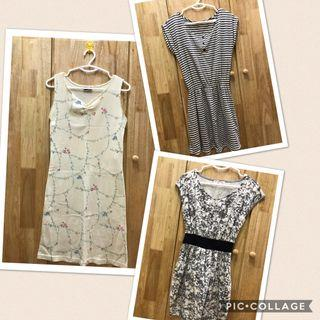 Preloved 3 pcs of Ladies Korea design dress ALL RM60 only