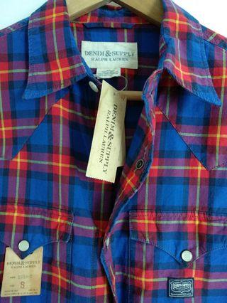 Ralph Lauren Denim Supply Vintage Scotch Plaid Shirt