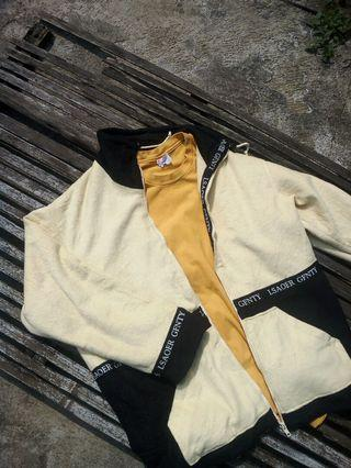 Versace-esque Taped Wool Track Jacket